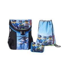 LEGO set 3v1 šolska torba chity/polica chopper