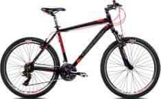 Capriolo MTB Monitor FSM, moško gorsko kolo, 20 '', črno-rdeče