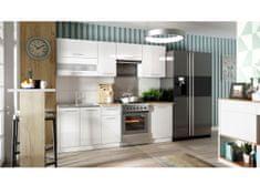 Kuchyně COLBY 180/240 cm, bílý lesk