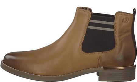 s.Oliver dámská kotníčková obuv 25335 41 hnědá