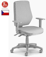 Emagra kancelářská židle LEX 229/BG - šedý plast - šedá