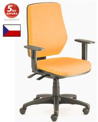 emagra kancelářská židle LEX 229/B - černý plast - oranžová