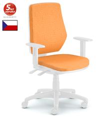 Emagra kancelářská židle LEX 229/BW bílý plast - oranžová