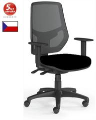 emagra Kancelářská židle LEX 230/B - síťovaná - černý plast - černá