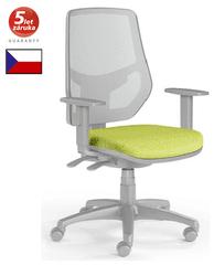 Emagra Kancelářská židle LEX 230/BG - síťovaná - šedý plast - zelená