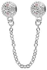 Infinity Love Bezpieczeństwo Łańcuchz kryształkami HCL-076-WD srebro 925/1000