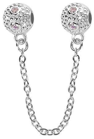 Infinity Love Varnostna veriga s kristali HCL-076-WD srebro 925/1000