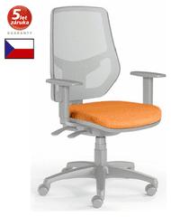 Emagra Kancelářská židle LEX 230/BG - síťovaná - šedý plast - oranžová