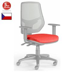 Emagra Kancelářská židle LEX 230/BG - síťovaná - šedý plast - červená