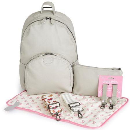 Pink Lining ruksak za previjanje, svijetlo sivi