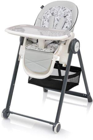 Baby Design Penne stolac za hranjenje, sivi
