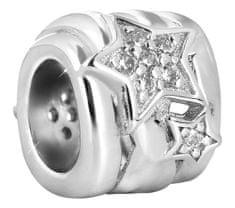 Infinity Love Srebrna kulka z gwiazdkami HSZ-1218-S srebro 925/1000
