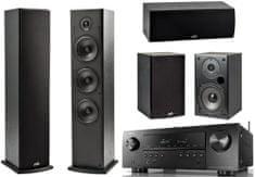 DENON AVR-S650H + Polk T15 + T30 + T50, čierne