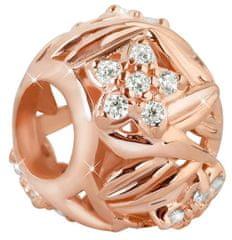 Infinity Love Koralik srebrny z kwiatami HSZ-198- ROSE srebro 925/1000