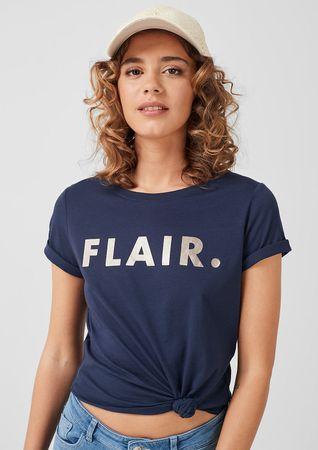 s.Oliver dámské tričko 14.906.32.6882 34 tmavě modrá