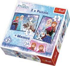 Trefl Puzzle Ledové království 30+48 dílků + pexeso