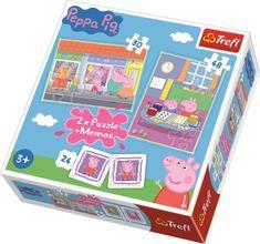 Trefl Puzzle Prasátko Pepa 30+48 dílků + pexeso