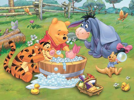 Trefl Puzzle Medvídek Pú Koupel Prasátka 30 dílků