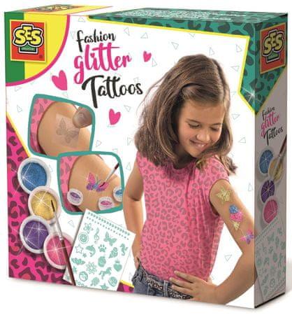 SES Divatos csillogó tetoválás