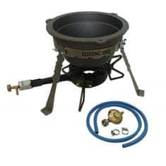 Gorenc BBQ set kotlić retro 7L + plamenik G1Z + cijev 1,2m + regulator