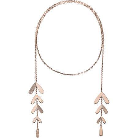 Emporio Armani Luxusné variabilný náhrdelník z ružovo pozlátenej ocele EGS2582221