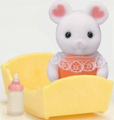 Sylvanian Families Baby Marshmallow myszka z akcesoriami