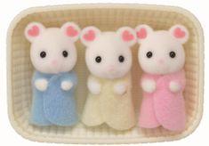 Sylvanian Families Baby Marshmallow myszki trojaczki