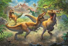 Trefl Puzzle Dinosauří souboj 160 dílků