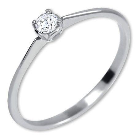 Brilio Zaročni prstan iz belega zlata s kristalom 226 001 01035 07 (Obseg 52 mm) Belo zlato 585/1000