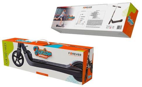Elektrická koloběžka pro děti Forever Junior, skládací, bezpečná, ekologická, zábavná