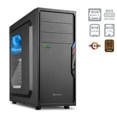 PCplus namizni računalnik Magic Ryzen 3 2200G/8GB/SSD240GB+1TB/FreeDOS (137722)