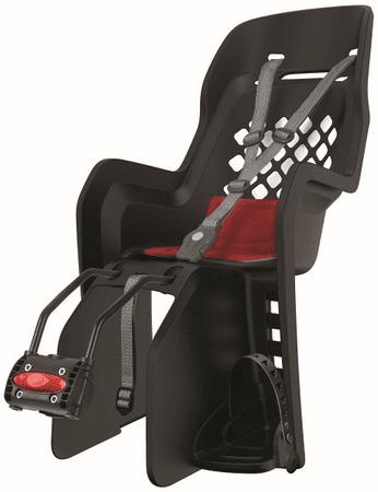 Polisport Joy FF otroški sedež, okvir, črna/rdeča
