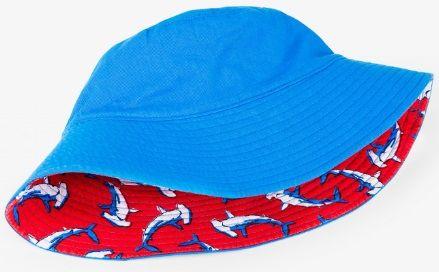 Hatley Fiú kalap cápákkal, UV védelemmel, 62/68 piros/kék