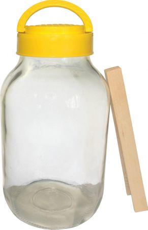 Marex Trade Uborkára alkalmas üveg 4 l + fa csipesz