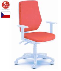 Emagra kancelářská židle LEX 229/BW bílý plast - červená