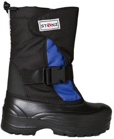 Stonz fantovski zimski čevlji, črni/modri, 37