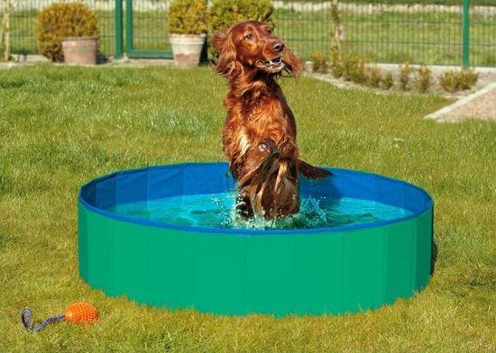 Karlie Skladací bazén pre psov zeleno-modrý 120x30 cm