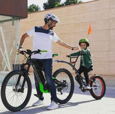 WeeRide Co-Pilot XT detský prípojný bicykel - Strieborný