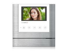COMMAX CDV-43M bílý, barevný handsfree videotelefon, 4.3'' LCD, 2 video vstupy, dotyková tlačítka,