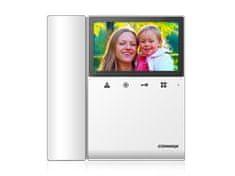 COMMAX CDV-43KM, barevný sluchátkový videotelefon, 4.3'' LCD, paměť (SDHC slot), dotyková tlačítka,