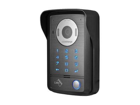COMMAX DRC-40DK, 1-tlačítková kamerová jednotka s kódovací klávesnicí, 2 vstupy, RFID čtečka Mifare,