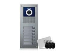 COMMAX DRC-6UC/RFID, barevná dveřní kamerová jednotka se 6 tlačítky a integrovanou čtečkou