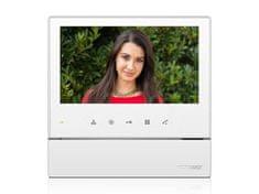 COMMAX CDV-70H bílý, barevný handsfree videotelefon, 7'' LCD, 1 video vstup, dotyková tlačítka,