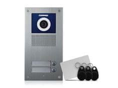 COMMAX DRC-2UC/RFID, barevná dveřní kamerová jednotka se 2 tlačítky a integrovanou čtečkou