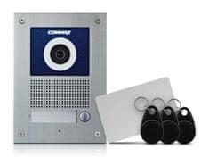 COMMAX DRC-41UN/RFID, barevná kamerová jednotka s jedním tlačítkem a integrovanou čtečkou