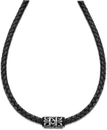 Lotus Style Ogrlica iz črnega usnja LS2069-1 / 2