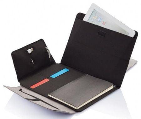 """XD Design Seattle 9""""/22,86 cm -10""""/25,4 cm torbica za tablični računalnik P772.812, siva/črna"""