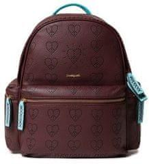 Desigual dámský vínový batoh Back True Love Oss Mini