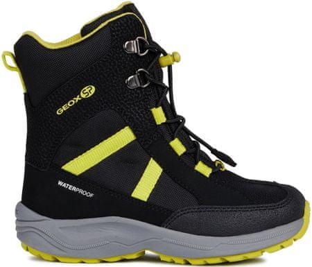 Geox New Alaska fantovski zimski škornji, 33, črni/rumeni