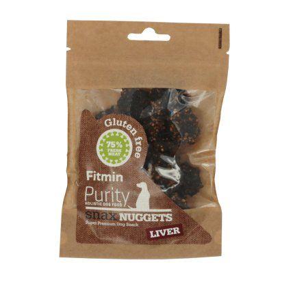Fitmin Dog Purity Snax NUGGETS liver prigrizek za psa z okusom govejih jeter, 64 g